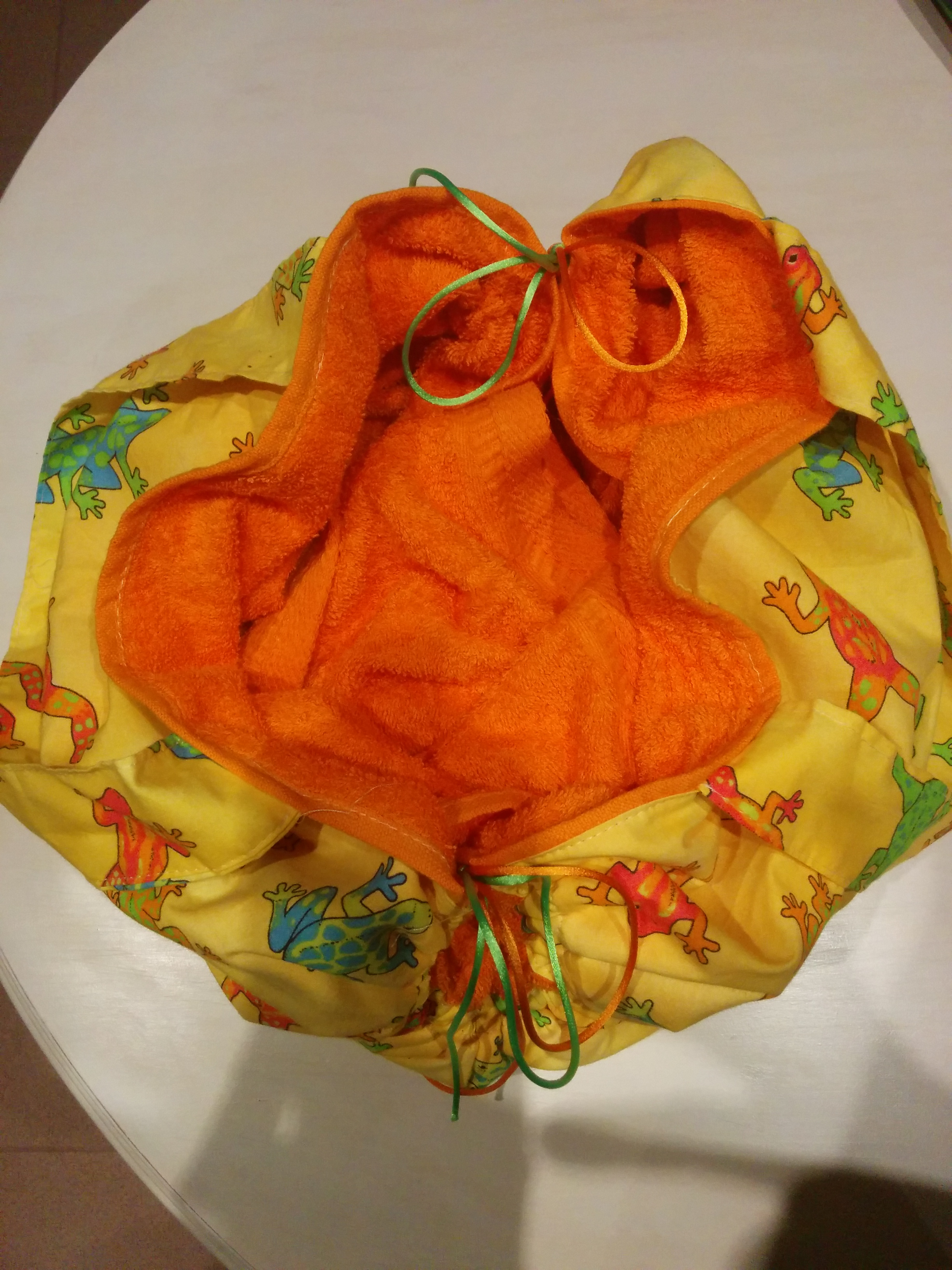 Bolso toalla naranja