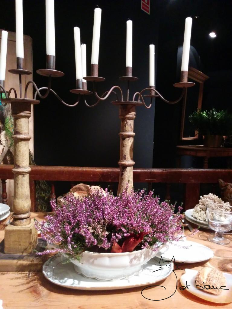 Centro de mesa, candelabros