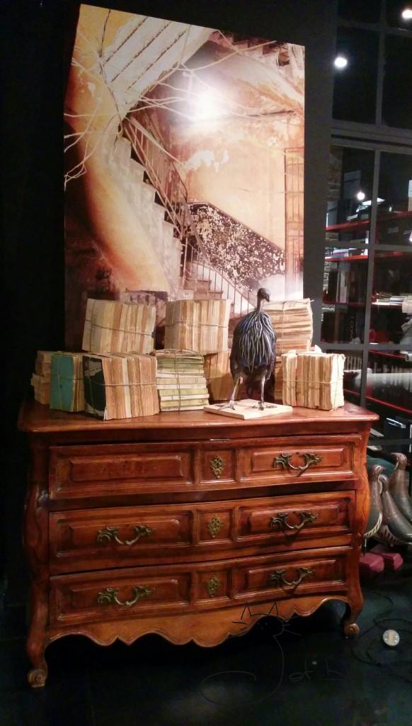 Libros, pajaro, madera
