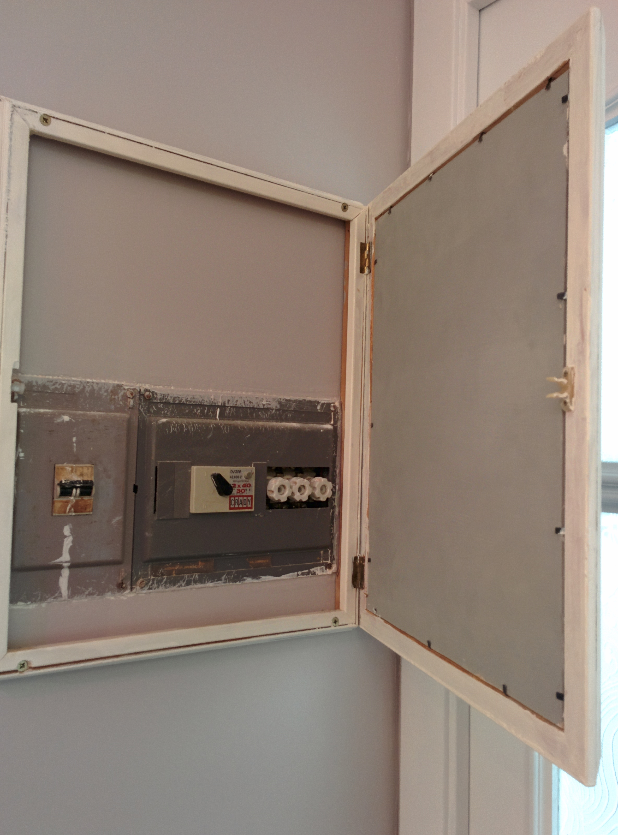 Cuadro el ctrico distribution panel la casa del gat blanc for Caja cuadro electrico
