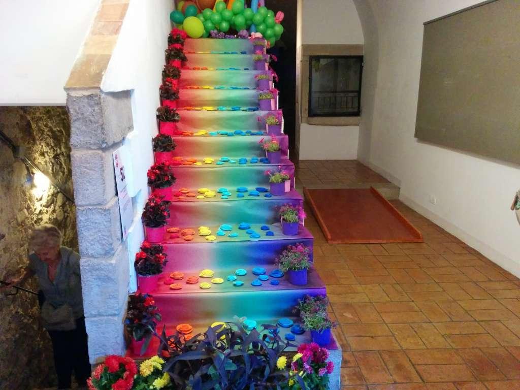 escalera de colores
